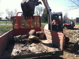 Loading The Huge Stones